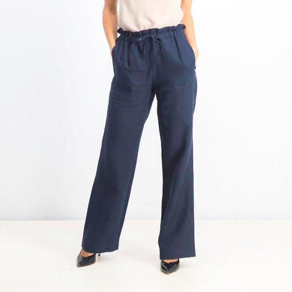 NWOT Tahari Linen Wide Leg Pants size 2P